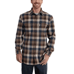 Hubbard Heavy Plaid Flannel Shirt by Carhartt 101749-235