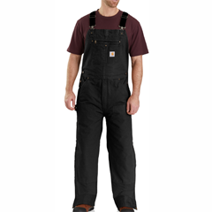 Carhartt quilt lined washed duck bib overalls 104031