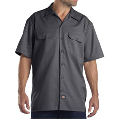 Dickies charcoal short sleeve twill shirt 1574