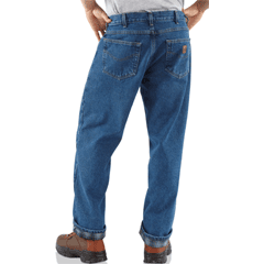 Carhartt relax fit flannel lined jeans B172